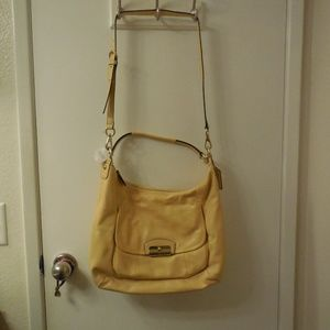 NWT Coach Kristen Leather Hobo Bag in Buttercup
